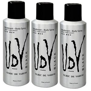Kit 3 Desodorantes UDV Black Masculino 200ml