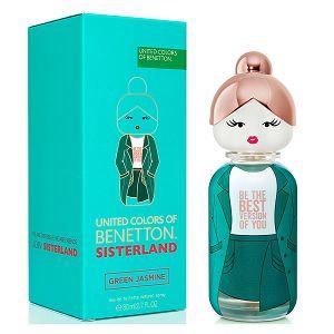 Sisterland United Colors Of Benetton Green Jasmine 80ml - Perfume Feminino - Eau De Toilette