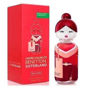 Sisterland United Colors Of Benetton Red Rose 80ml - Perfume Feminino - Eau De Toilette